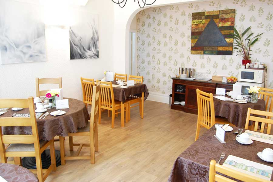 Spacious and welcoming dining room at the Ad Astra Guesthouse