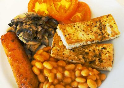 Vegetarian full English breakfast at the Ad Astra Guesthouse