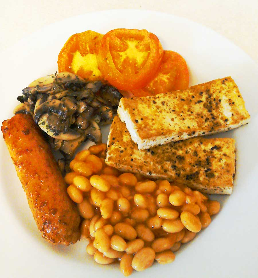 Vegan full English breakfast at the Ad Astra Guesthouse
