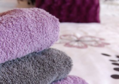 Fresh towels provided at the Ad Astra Guesthouse