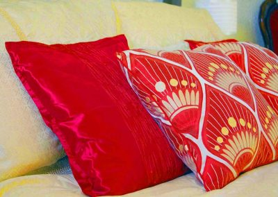 Soft furnishings for added comfort