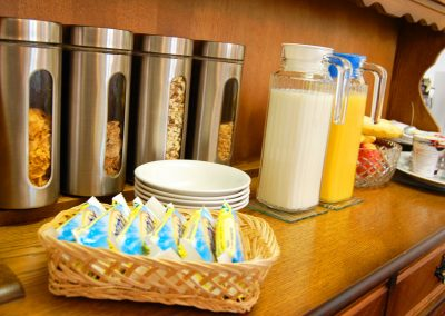 Breakfast cereal selection at the Ad Astra Guesthouse